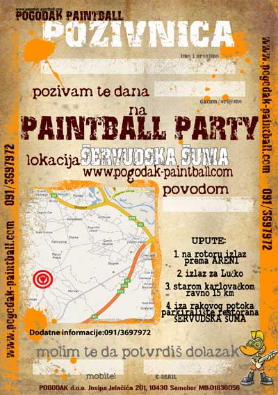 Paintball pozivnica